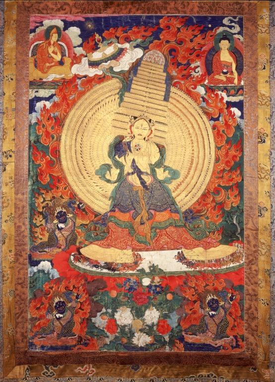Thangka of Sitatapatra card