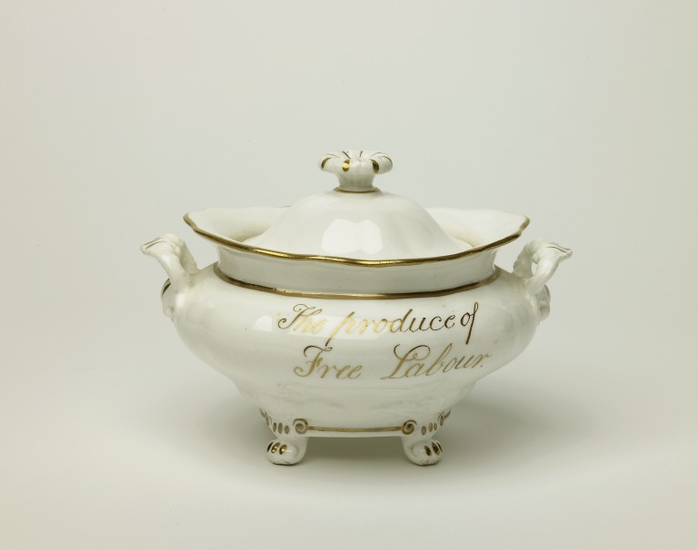 Sugar Bowl inscribed East India Sugar. The Produce of Free Labour card