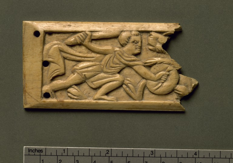 Carving of a Gladiator Fighting a Wild Animal card