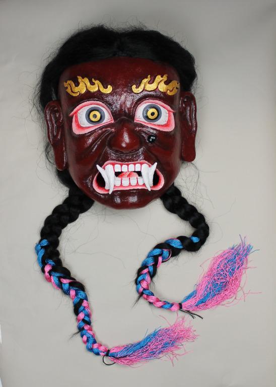 Ha cang bdud mo / the king kala dbang po's consort mask card