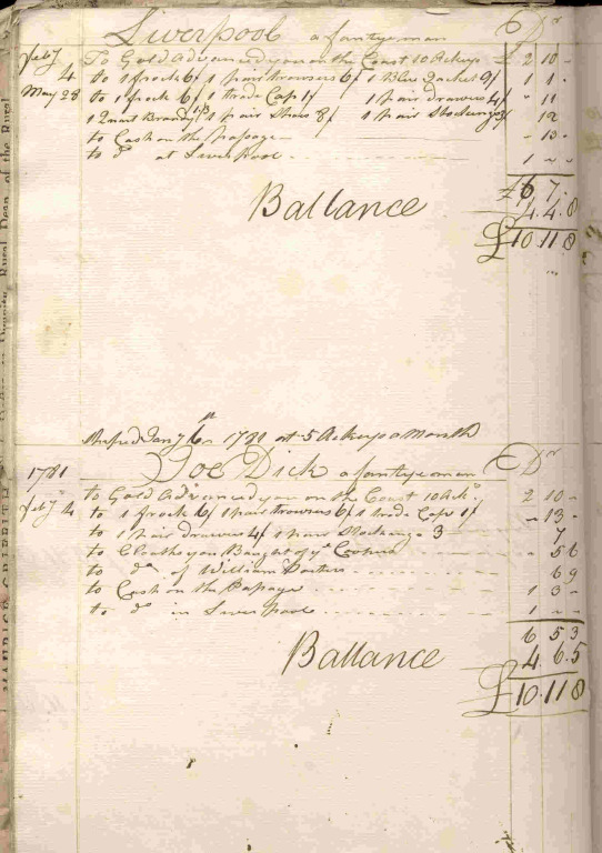 Archives of William Davenport (1725-1797) card