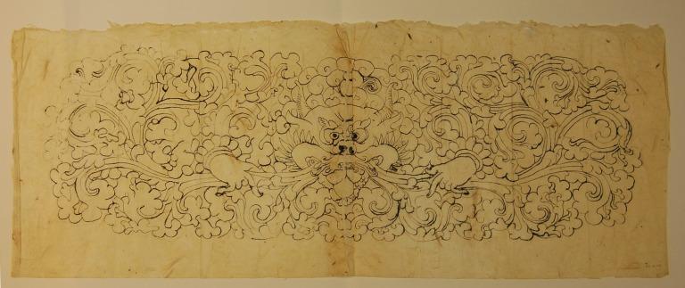 Tracing of a tsipa in foliage card