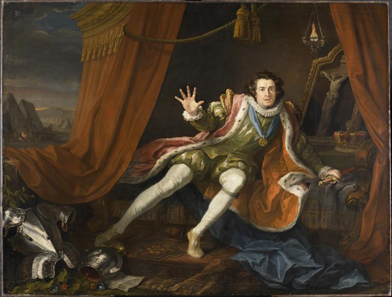 David Garrick as Richard III card