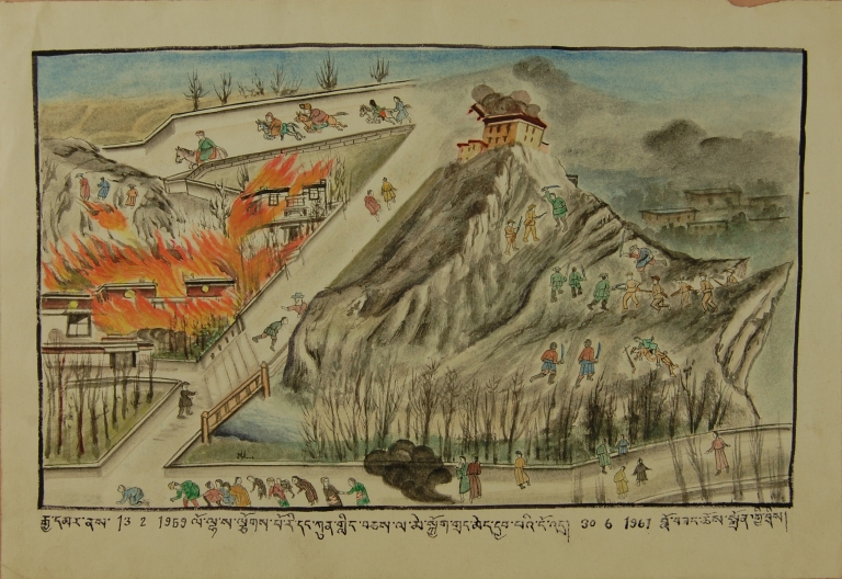Witness Paintings: Sack of Chakpori and Lhasa card