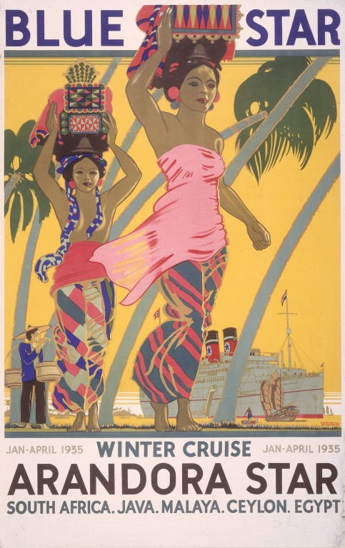 Blue Star Line 'Winter Cruise' card