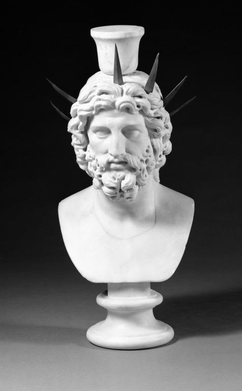 Head of Serapis or Jupiter card