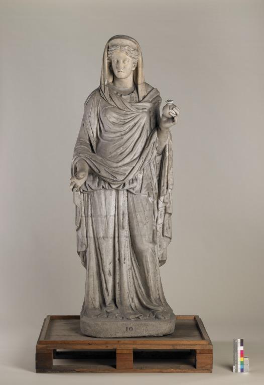 Statue of Draped Woman card