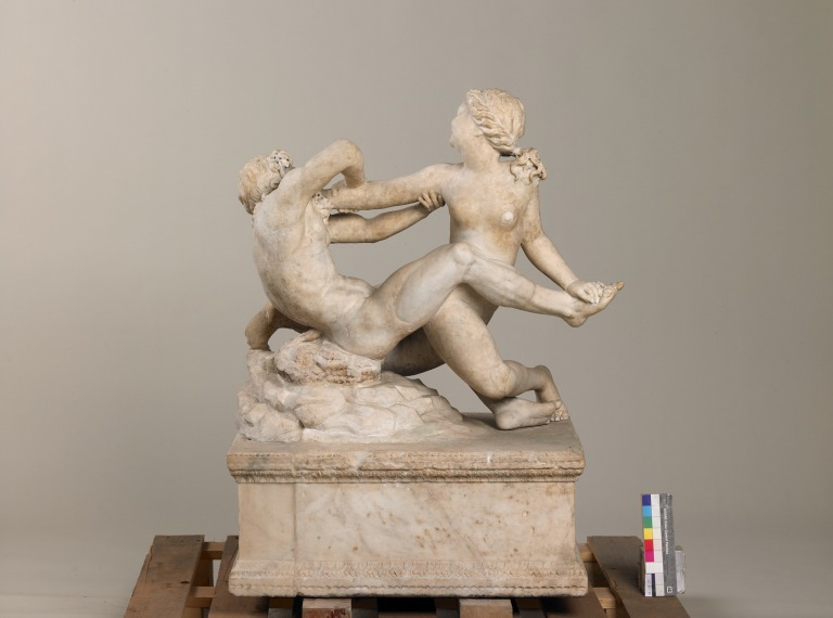Statue group of Satyr and Hermaphrodite card