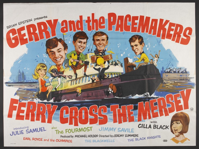 Ferry Cross the Mersey film poster card