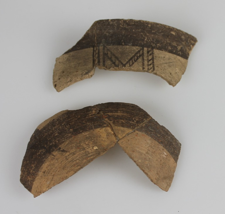 Sherds of a bowl card