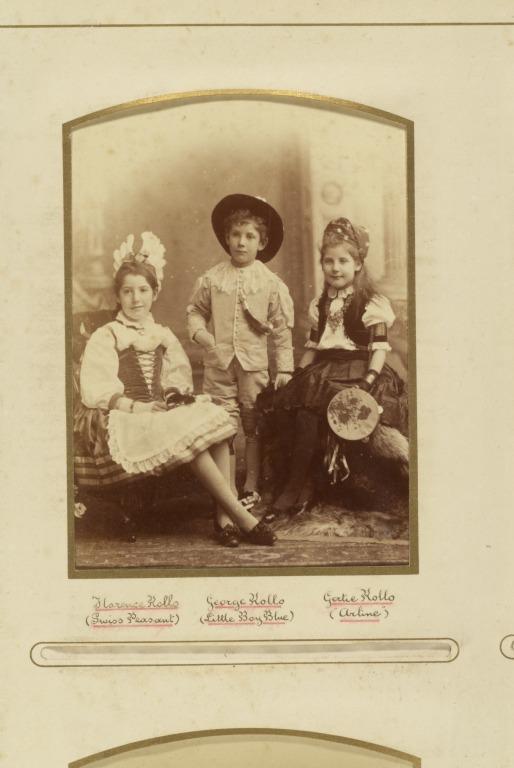 Children's fancy dress ball card