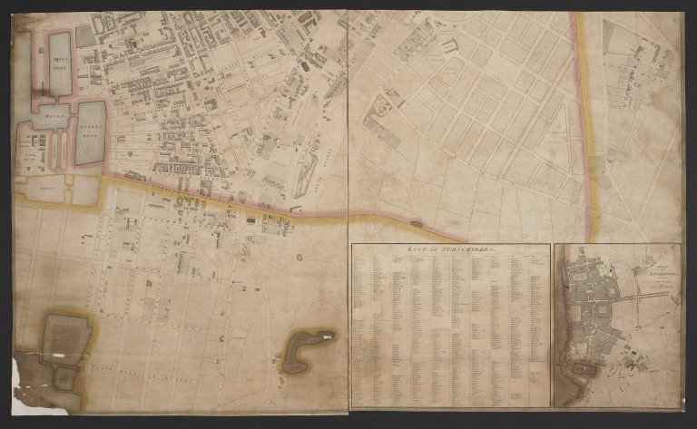 Map of Liverpool, R Horwood, 1803 card