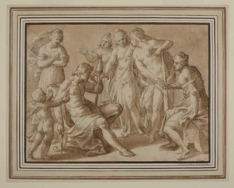 Hercules and Omphale card