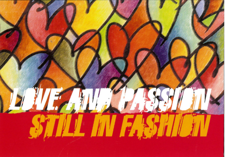 Postcard, 'Love and Passion Still in Fashion, 2003' card