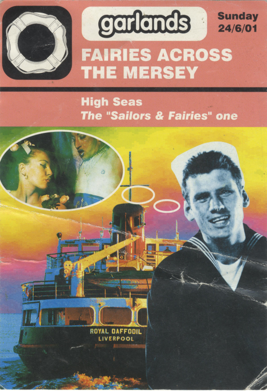 Flyer, 'Garlands Fairies Across the Mersey' card