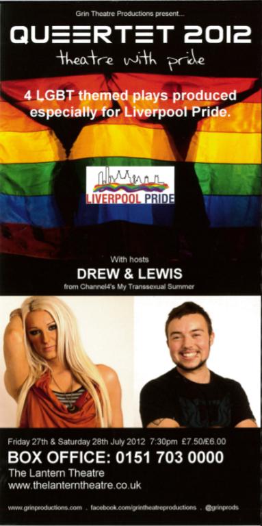 Flyer, 'Queertet 2012' card