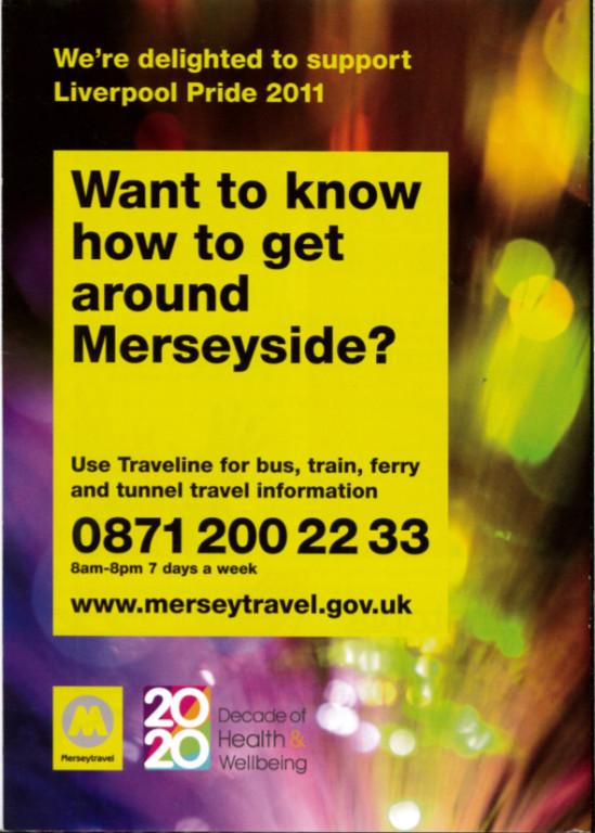 Programme, 'Liverpool Pride 2011' card