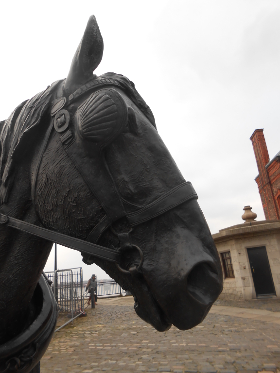 Waiting: The monument to the Liverpool working horse card