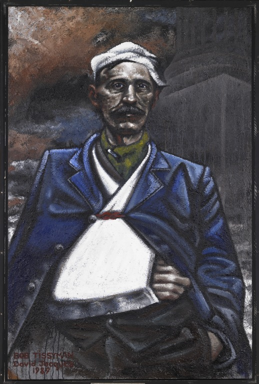 'Bob Tissyman, Leader of the Unemployed' card