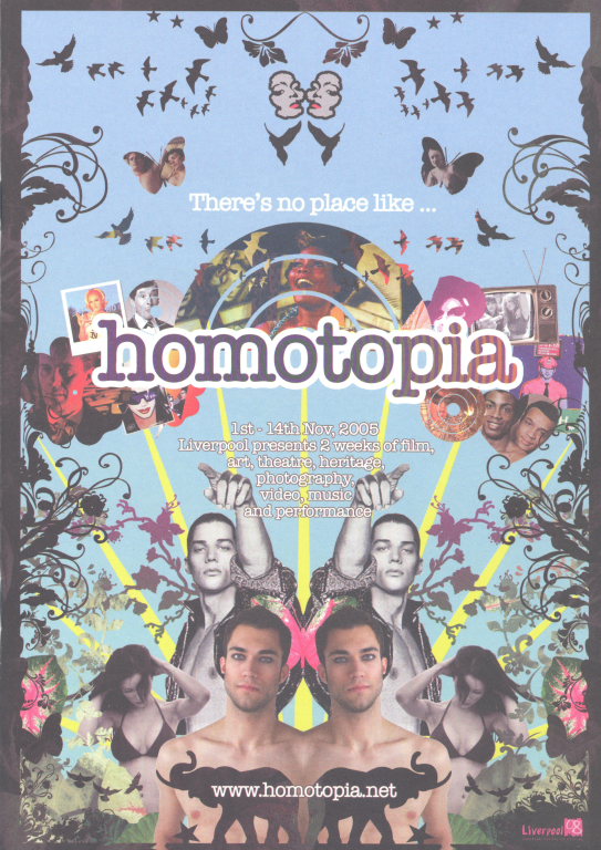 Programme, 'There's no place like Homotopia' card