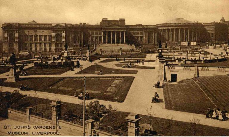 Postcard, 'St John's Gardens and Museum' card