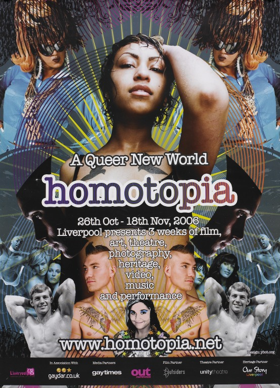 Poster, 'Homotopia. A Queer New World' card