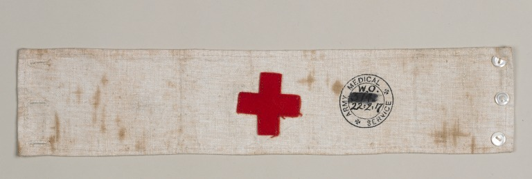 Army Medical Service Arm Band worn by Florence Irving card
