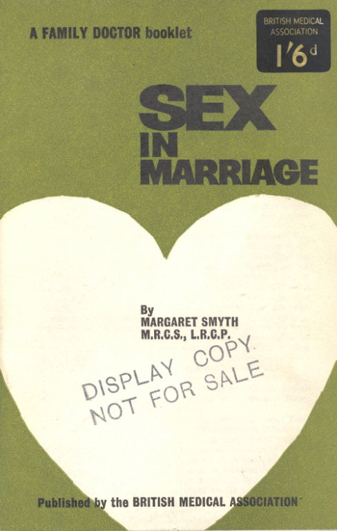 Booklet, 'Sex in Marriage'. card
