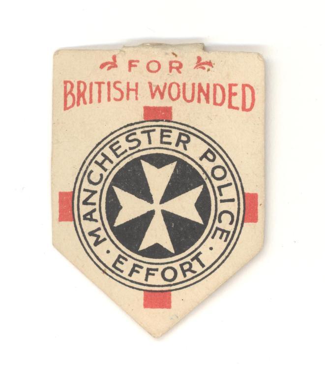 Manchester Police Effort flag card