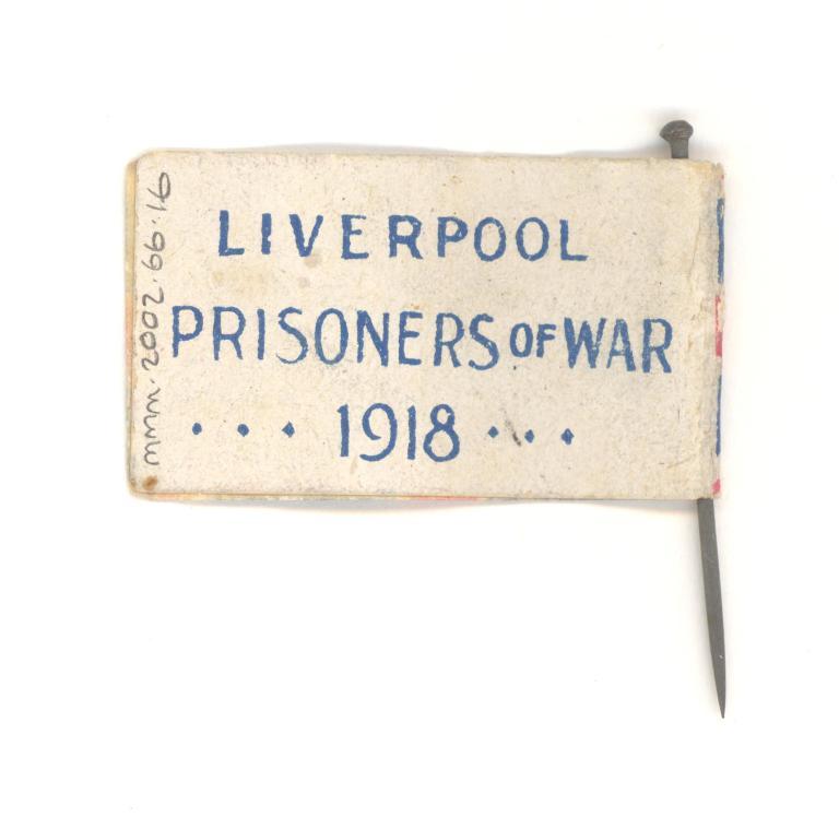 Liverpool Prisoners of War 1918 flag card
