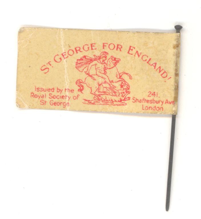 St George's flag card
