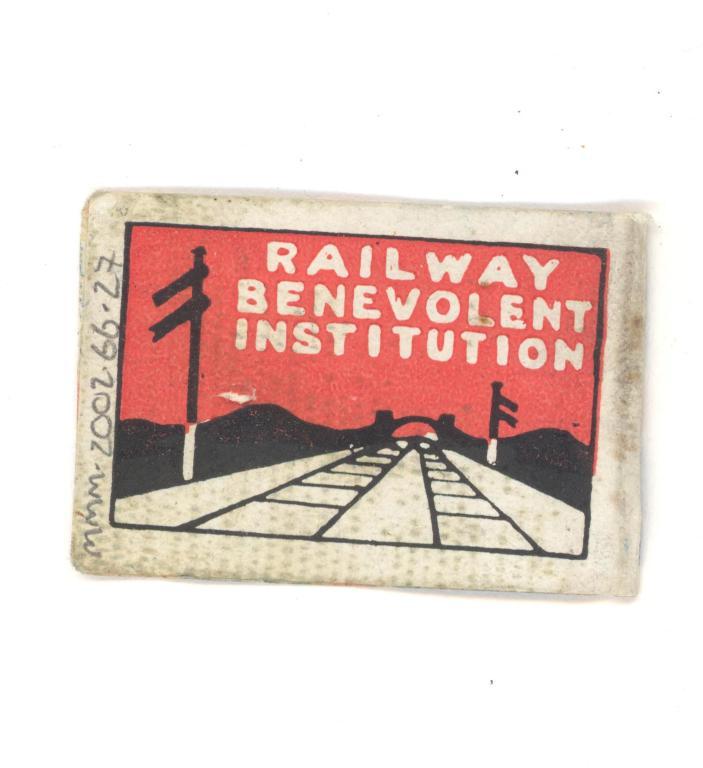 Railway Benevolent Institution flag card