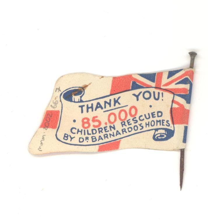 Union Jack charity flag card