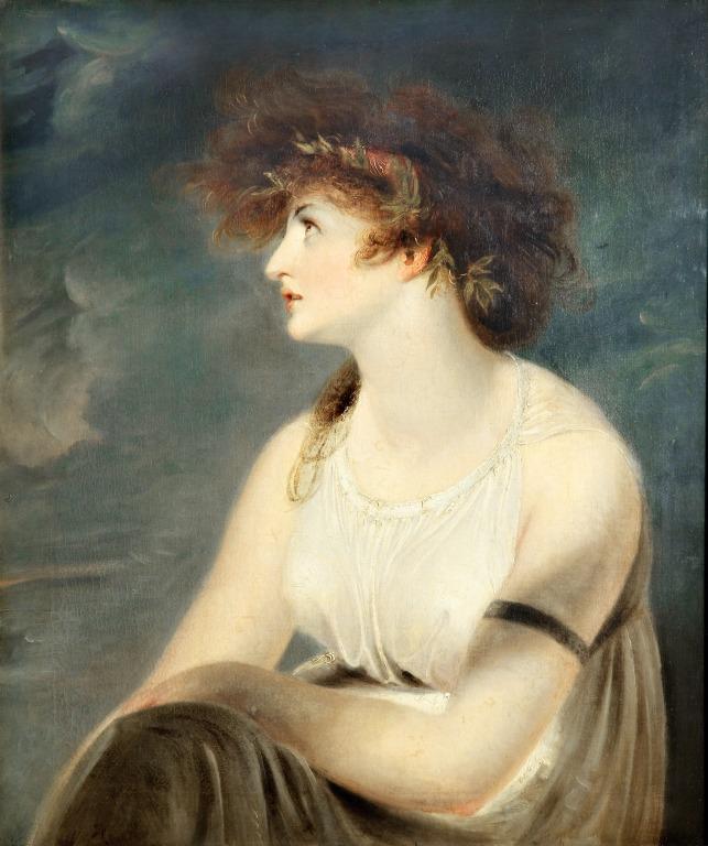 The Artist's Wife, As Sappho card