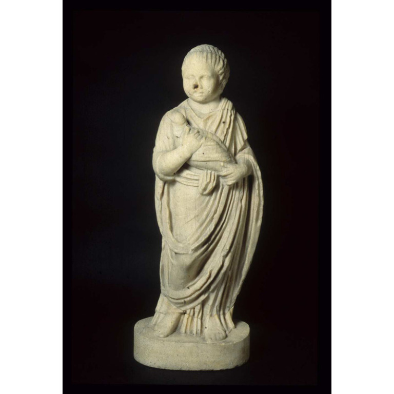 Figure of a Child Holding a Dove card