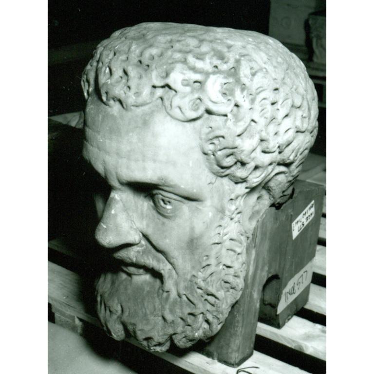 Colossal Male Head card