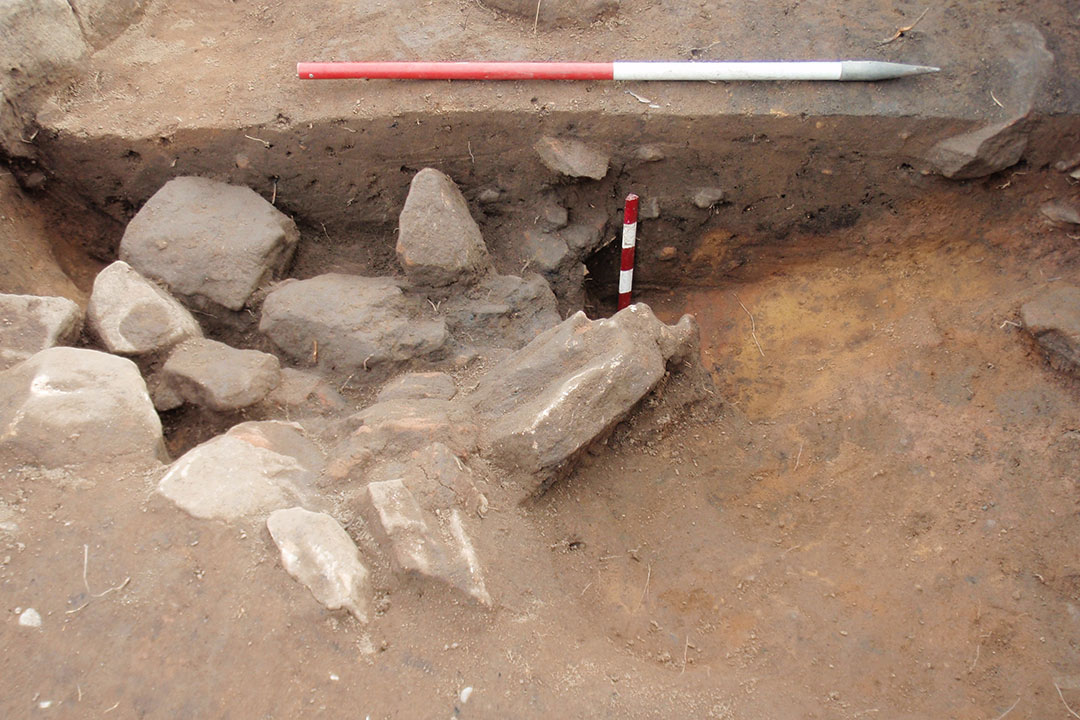excavated ditch