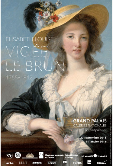 exhibition poster with an 18th century portrait of a lady