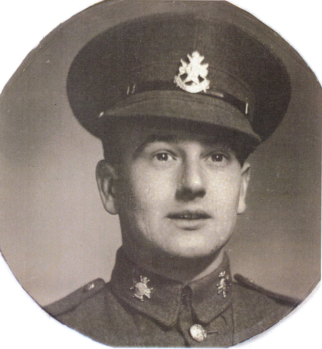Private Tom Woods in uniform