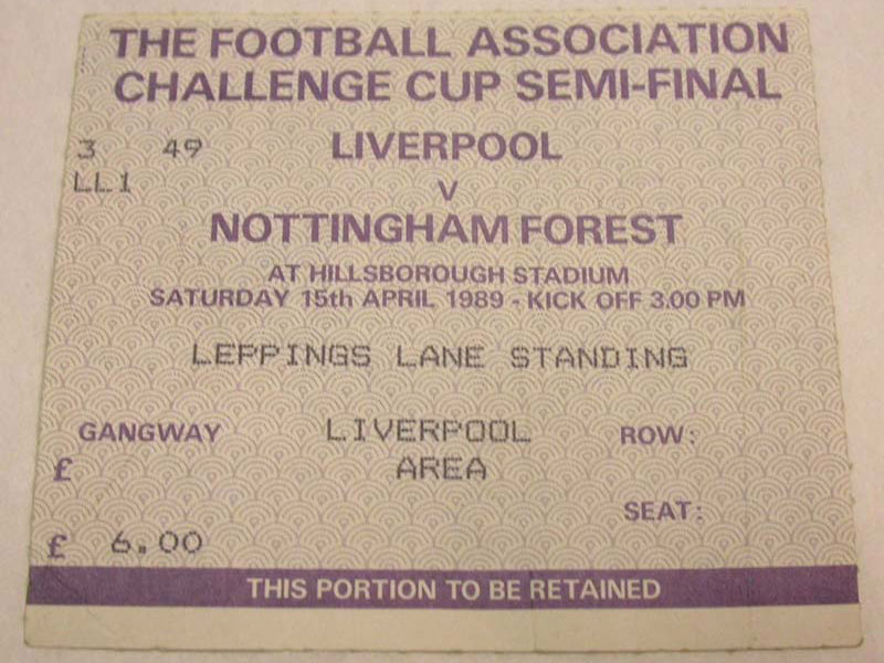 ticket for a football match