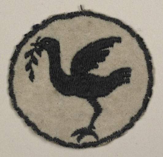 woven Liver Bird uniform badge