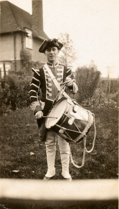 drummer in military costume