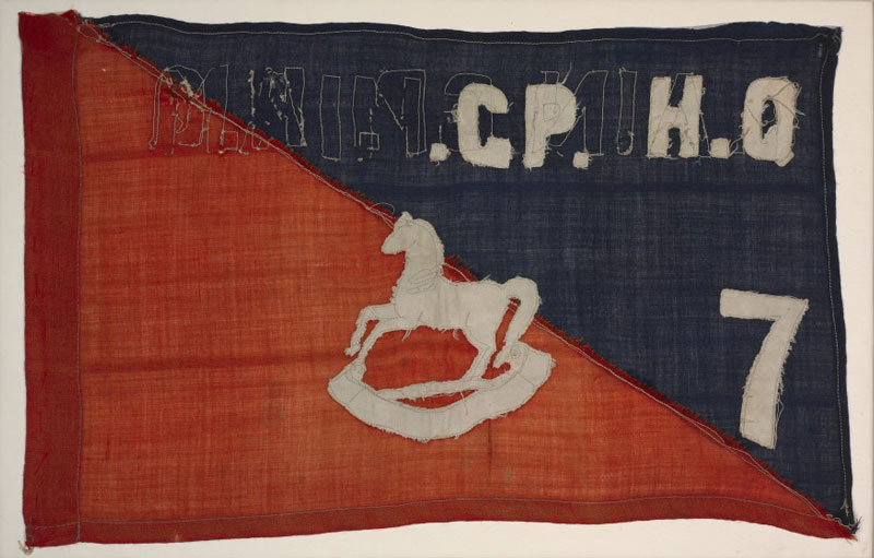 flag with horse regimental logo