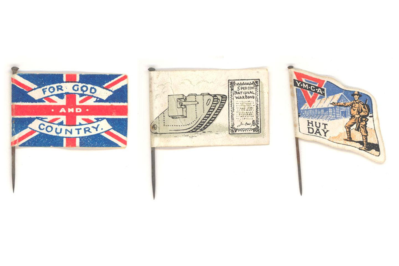 First World War charity flag pins