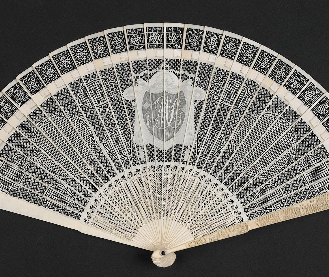 19th-Century ivory fans collection