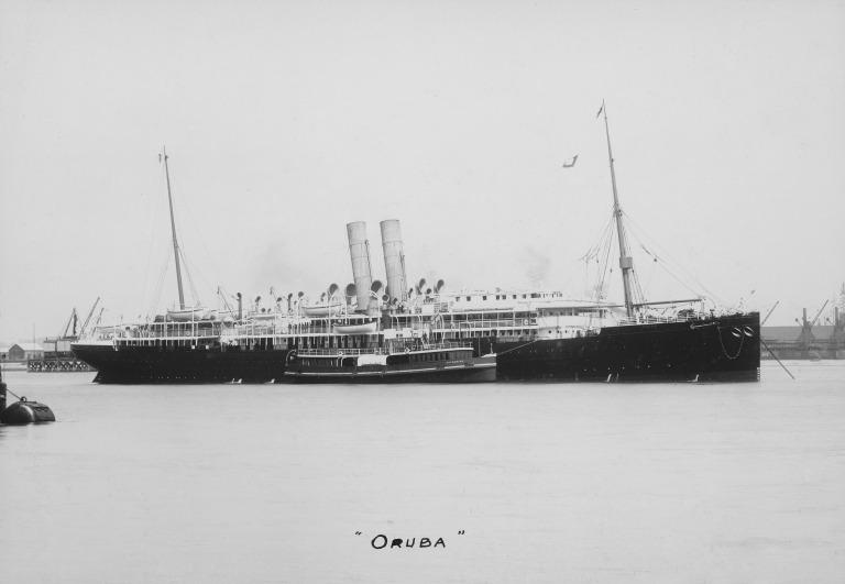 Photograph of Oruba, Orient Line card