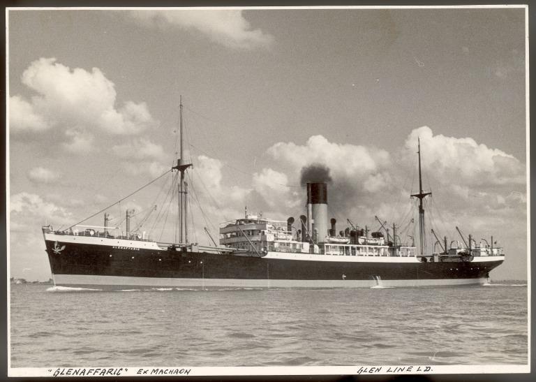 Photograph of Glenaffaric (ex Machaon), Alfred Holt card