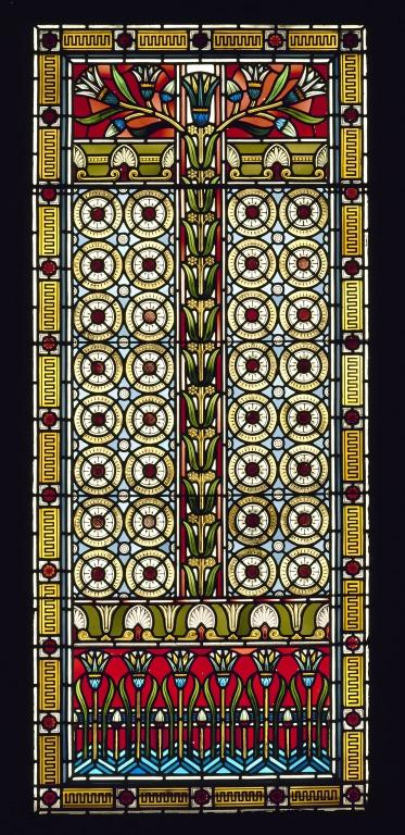 Stained Glass Window from 'Heathlands' Sefton Park card