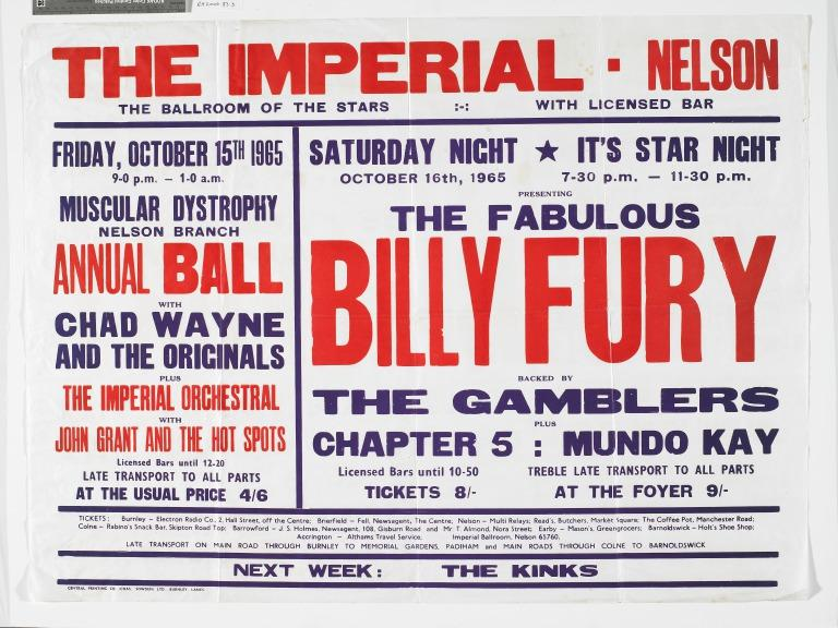 Billy Fury poster card