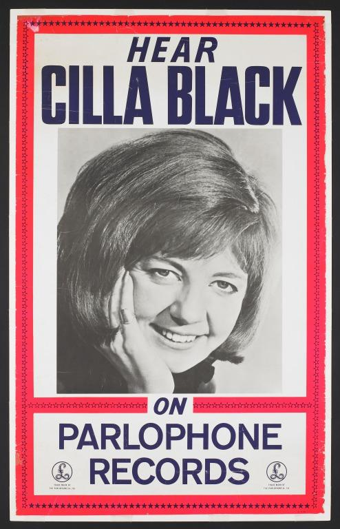 Cilla Black poster card